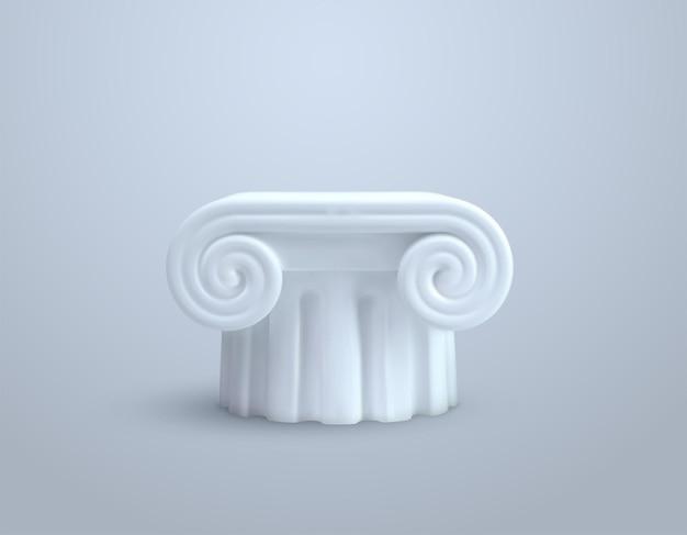 Pilar de coluna branca