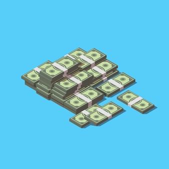 Pilha de conceito de dinheiro
