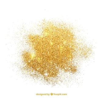 Pilha de glitter em estilo dourado