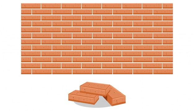 Pilha de ilustração vetorial de tijolos