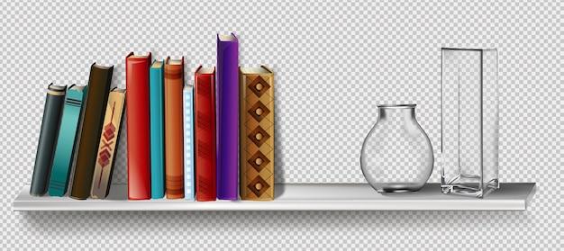 Pilha de livros coloridos com ícone de cor da estante de favoritos para design do site