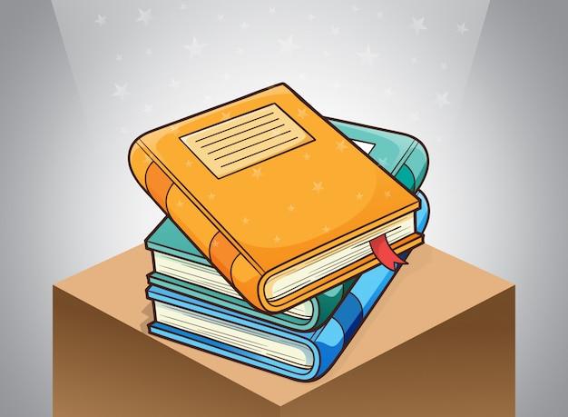 Pilha de livros na biblioteca clipart