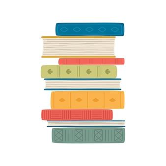 Pilha de livros. pilha de ilustração vetorial de livros.