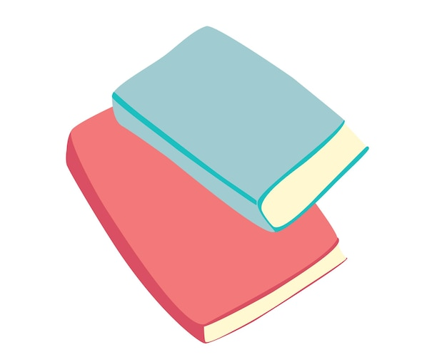 Pilha de livros. pilha de livros coloridos. livros didáticos para pesquisa acadêmica. hora de ir para a escola. dia mundial do livro. mão-extraídas ilustração vetorial educacional.