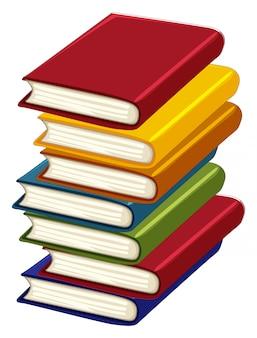 Pilha de muitos livros