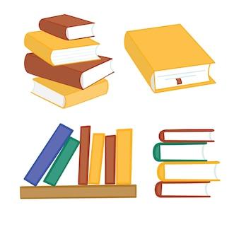 Pilha de multi livros coloridos