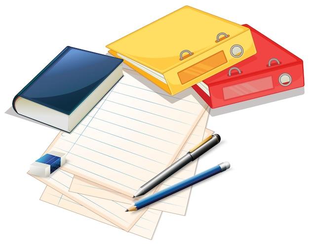 Pilha de papéis e arquivos