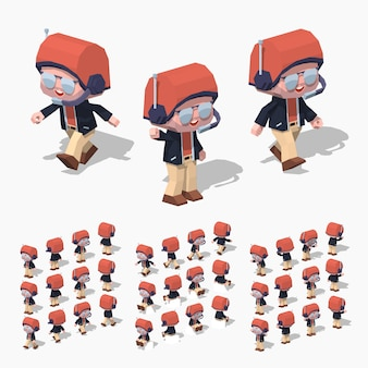 Piloto low poly