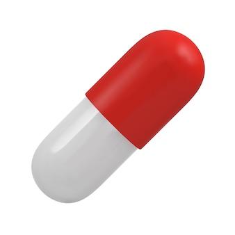 Pílula cápsula vermelha e branca