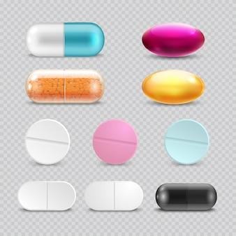 Pílulas de analgésico medicamento