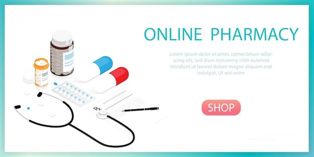 Pílulas de medicamentos, farmácia on-line