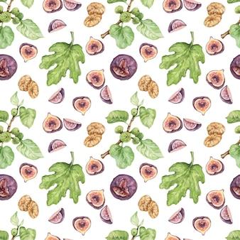 Pimenta pimenta especiarias aquarela mão ilustrações desenhadas sem costura definir fundo comida picante
