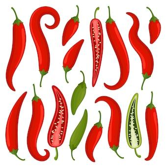 Pimentas vermelhas quentes