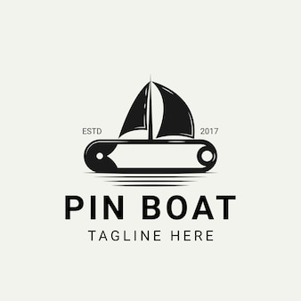 Pin com inspiração de design de logotipo de veleiro