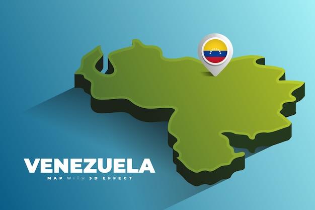 Pin de localização no mapa da venezuela