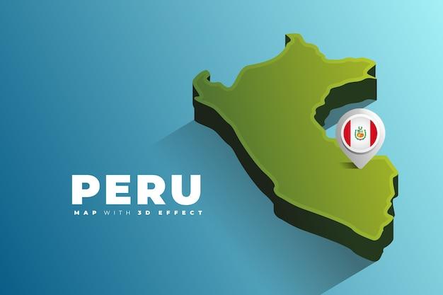 Pin de localização no mapa do peru