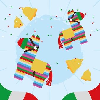 Pinatas e nachos mexicanos