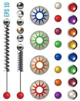 Pinball realista definido com diferentes ferramentas