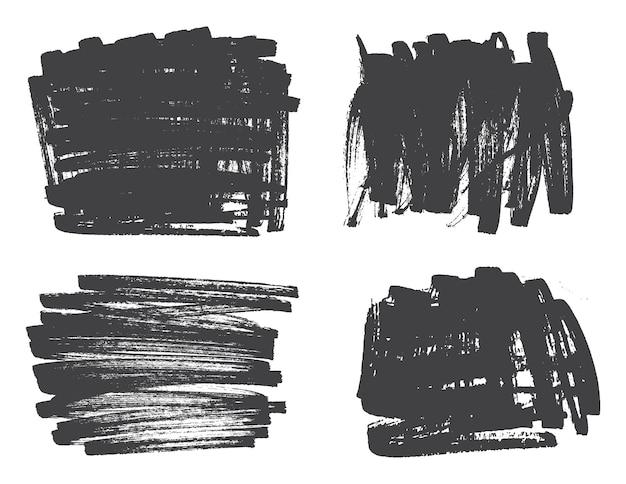 Pincéis de pintura de mão desenhada