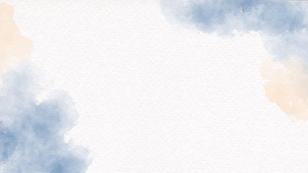 Pincel de aquarela azul marinho e bege areia em papel branco com textura de fundo