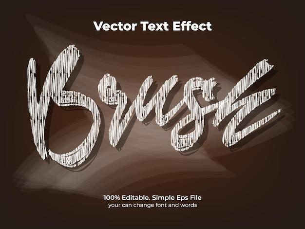 Pincel de efeito de texto em giz de quadro