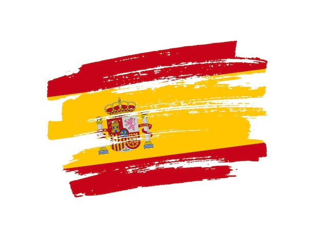 Pincelada bandeira da espanha