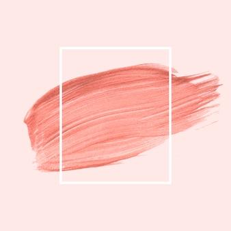 Pincelada cor-de-rosa