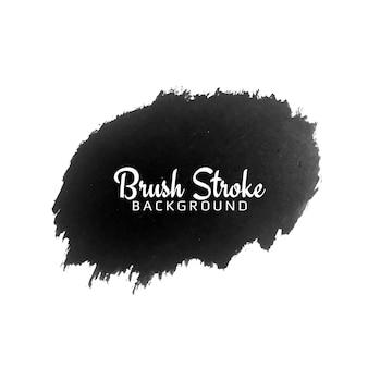 Pincelada de aquarela preta abstrata backgroud Vetor grátis