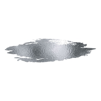 Pincelada de folha de prata.