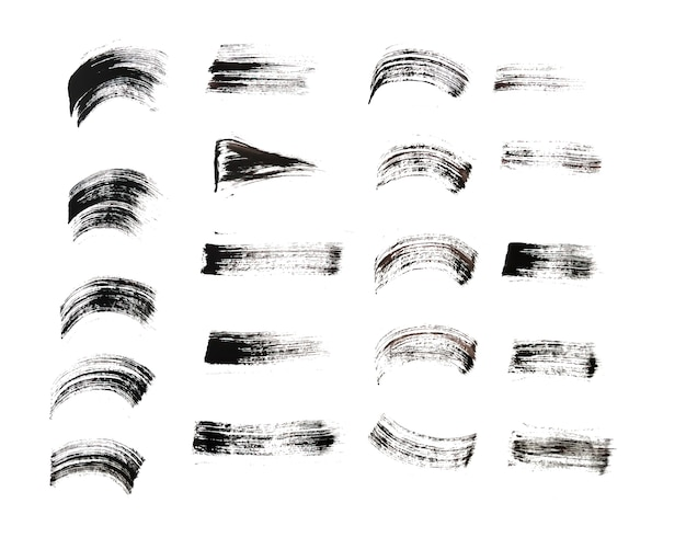 Pincelada desenhada à mão em vários estilos de design