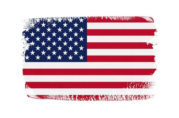 Pincelada grunge bandeira americana