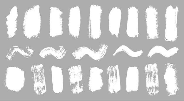 Pincelada moderna tinta branca grunge pano de fundo sujeira banner pintado em aquarela vetor