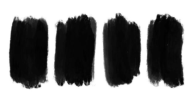 Pinceladas de aquarela preta