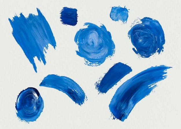 Pinceladas de tinta acrílica azul