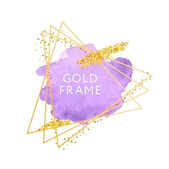 Pinceladas e moldura de ouro.