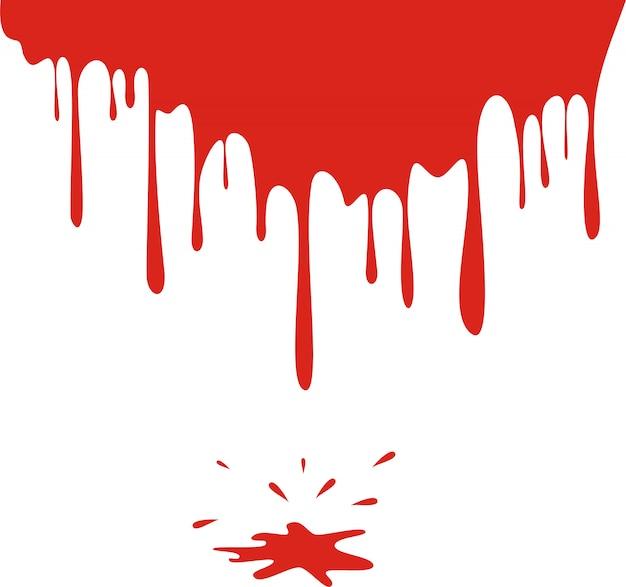 Pingando sangue isolado no branco