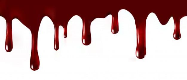 Pingando sangue.