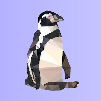 Pinguim baixo poli