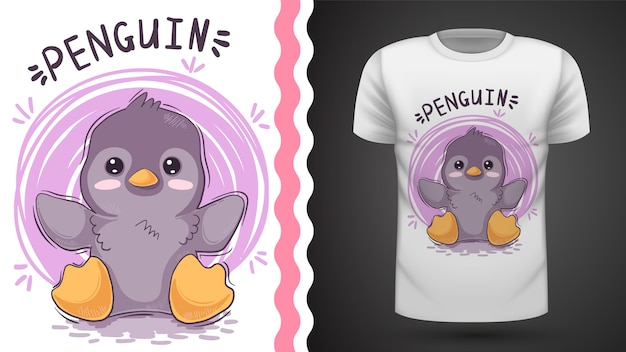 Pinguim bonito, ideia para impressão t-shirt