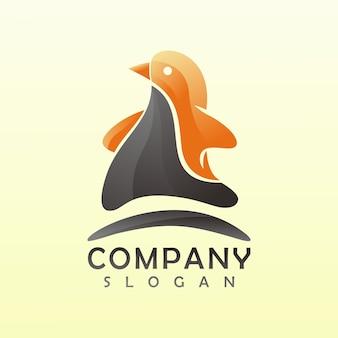 Pinguim logotipo 3d