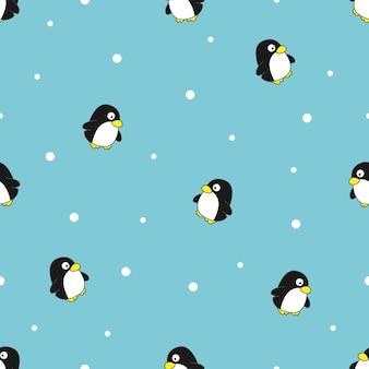 Pinguim sem costura padrão vector