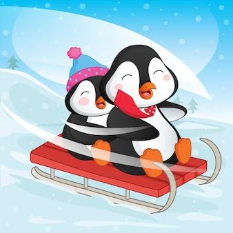 Pinguins dos desenhos animados