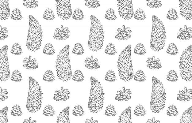 Pinha. mão ilustrações desenhadas. ano novo e elementos de design de natal. .