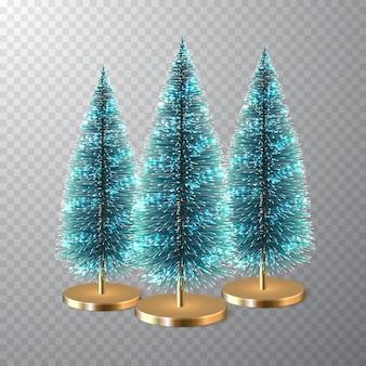 Pinheiro de natal ou pinheiro cónico. decoração de natal.