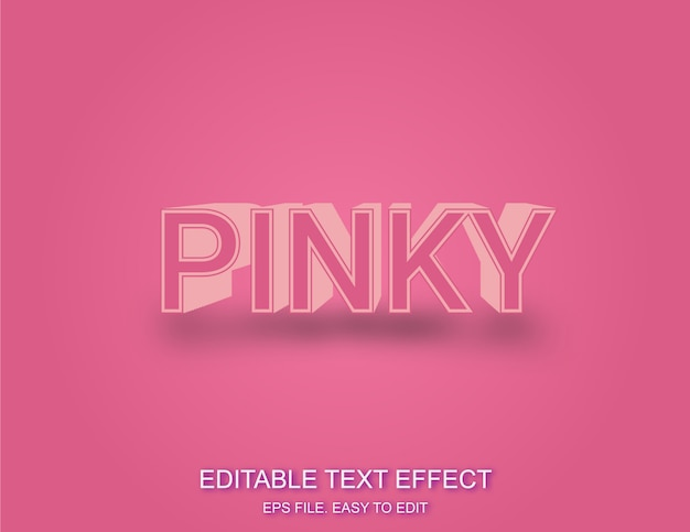 Pinky 3d text effect stlye