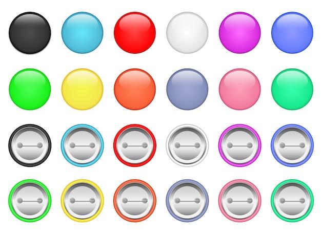 Pino de botão isolado no fundo branco