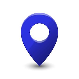Pino de ponteiro de mapa 3d