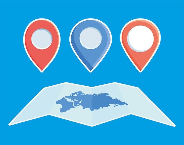 Pinos de mundo e localização