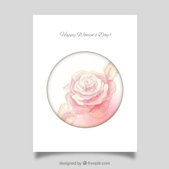 Pintados à mão aumentou cartão do dia das mulheres