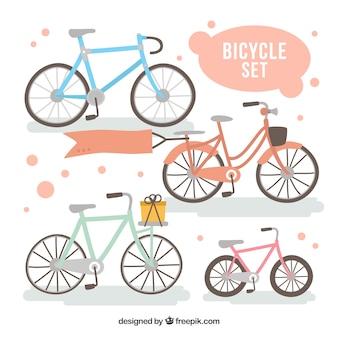Pintados à mão bicicletas definir